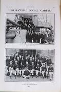 1903 Print Britannia Naval Cadets On Board The Isis 4th Term From The Aurora