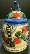 Hand Painted Andy Ceramic Bee Honey / Jam Jar Poland 5.5 X 3.25 X 3.25 Excell