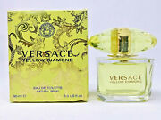 Yellow Diamond By Versace 3.0 Oz Edt Perfume For Women New In Box