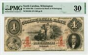 1859 4 The Commercial Bank Of Wilmington, North Carolina Note - Pmg Vf 30