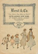 Liliputian Bazaar Best And Company Children's Clothing Antique Graphic Advertising