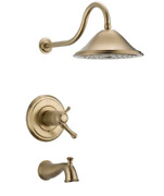 Delta Cassidy T17t497-cz Series Dual Tub And Shower Champagne Bronze