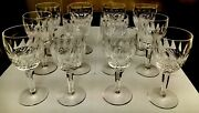 """Qty 12, Waterford Crystal 7"""" Colleen Tall Stem Water Goblet - Signed"""