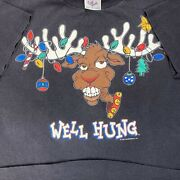 1995 Vintage Well Hung Reindeer Funny Christmas T-shirt 90s Single Stitch Xmas