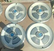 Vintage Set Of 4 1965 Ford Galaxie Hubcaps 15 In Vg Condition