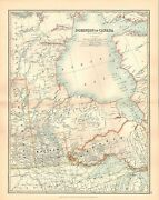 1911 Large Victorian Map Dominion Of Canada West Central Manitoba Ontario