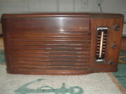 Vintage Philco Tube Radio Phonograph Model 48-1256 With Record Player Wood Case