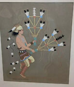 Listed Harrison Begay 1917-2012 Navajo Feather Dancer Gouache Painting