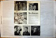 Antique Print Lou Costello Fred Astaire Ginger Rogers Lemaire Deanna Durbin
