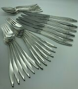 1960s Lark By Reed And Barton Sterling Silver Flatware Set For 6 Service 24 Pieces