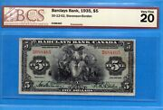 5 1935 Barclays Bank Canada Chartered Note 30-12-02 - Bcs Vf-20