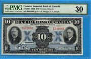 10 1933 Imperial Bank Canada Chartered Note 375-20-04 - Pmg Vf-30