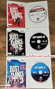 Wii Just Dance Game Lot 1 2 3 Bundle Complete_music Dancing_cib Song Kid Family
