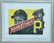 Mister Cartoon Artist Proof /20 Roberto Clemente Signed And Numbered Coa
