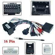 Car Stereo Player 16pin Android Wiring Harness Connector W/canbus For Chevrolet