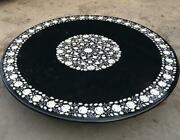 42and039and039 Marble Table Top Coffee Center Fancy Inlay Mosaic Home Decor Round