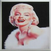 Personalized Natural Stone Ceramic Tile Drink Coasters - Set Of 4 - Marilyn 3 E