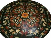 36and039and039 Marble Coffee Dining Table Top Stone Pietra Dura Inlay Antique Home Decor L