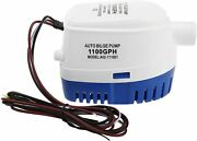 1100 Gph 12 V Electric Marine Submersible Bilge Water Pump For Boat Yacht Auto