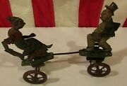 Vintage Antique 1924 Tin Wind-up Maggie And Jiggs Comic Character Toy