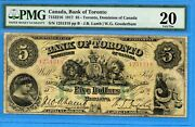 5 1917 Bank Of Toronto Canada Chartered Note 715-22-16 - Pmg Vf-20