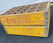2 Vintage Faded Weathered 1960andrsquos Coca Cola Coke Soda Crates 24 Dividers