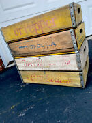 4 Vintage Faded Weathered 1960andrsquos Coca Cola Coke Pepsi Dr Pepper 7up Soda Crates
