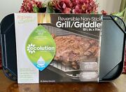 Reversible Griddle Grill Cast Aluminum Flat Cover Pan Gas Stove Stir Fry Plate
