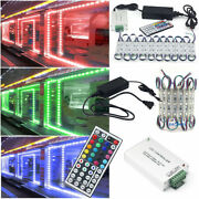 5050 Led Window Store Front Lights Module Strips With Power Supply+remote Usa
