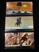 Star Wars Topps Empire Strikes Back Widevision Chrome Cards Complete Set Of 10