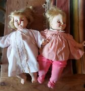 Vintage 2 X 1965 And 1970 Madame Alexander Puddinand039 And Smiley Dolls And Dresses - 20