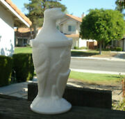 Scarce/rare,collectible Old Abe Eagle Figurine Milk Glass Mustard Or Candy Jar