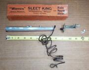Very Old Accessory Electric Sleet King Windshield Wiper And Switch 30and039s 40and039s 6volt
