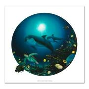 Undersea Life Limited Edition Giclee On Canvas By