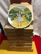 Complete Set Of 8 Knowles Wizard Of Oz Collector Plates James Auckland 1970s