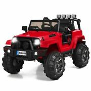 Durable 12v Childrenand039s Remote Control Riding Truck Car W/led Lights-red