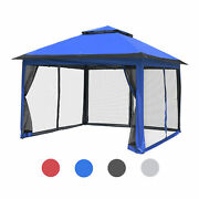 Fully-enclosed Gazebo Tent With Mesh Sidewall Uv50+ Canopy Outdoor Patio 11x11