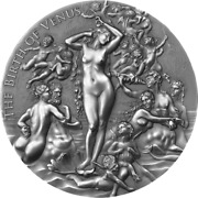 Cameroon 2021 - Celestial Beauty - Birth Of Venus 2000 Francs Silver Coin 2 Oz
