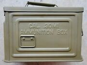 Ww2 30cal Ammo Can Reeves Flaming Ball      Repainted