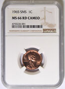 1965 Sms Lincoln Cent Ngc Ms-66 Rd Cameo 26-001