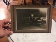Vintage Pedal Petal Car Photo Cabinet Picture Fire Truck W/ladder Early 1900s