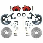Leed Brakes Rrc1001x Disc Brake Rear Cross-drilled/slotted Rotors Calipers New