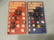 Vintage 1976 Nfl Magnetic Standings Board W/gumball Magnet Helmets Afc And Nfc