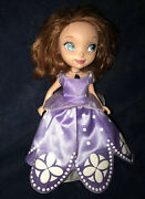 Disney Beautiful Sofia The First Talking Doll With Light Up Purple Amulet Works