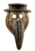 Mask From Venice Medics Doctor Of The Plague With Hat Paper Mache 22606 Cb1