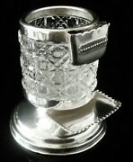 Unusual Antique Sterling Silver Cigarette Holder With Vesta And Tray 1899