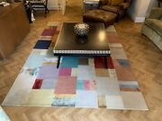 Ex Show Home The Rug Company Silk Long Pile Geometric Rug Rrp Andpound17500