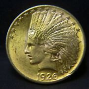 1926 Gold United States 10 Dollar Indian Head Coin Au Condition