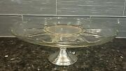 Sterling Silver Pedestal Cake Glass Vintage Stand Duchin Creation Weigted Base