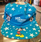 Vtg 90s Disney Mickey Mouse Aop Painters Hat Goofy Minnie Mouse Drew Pearson